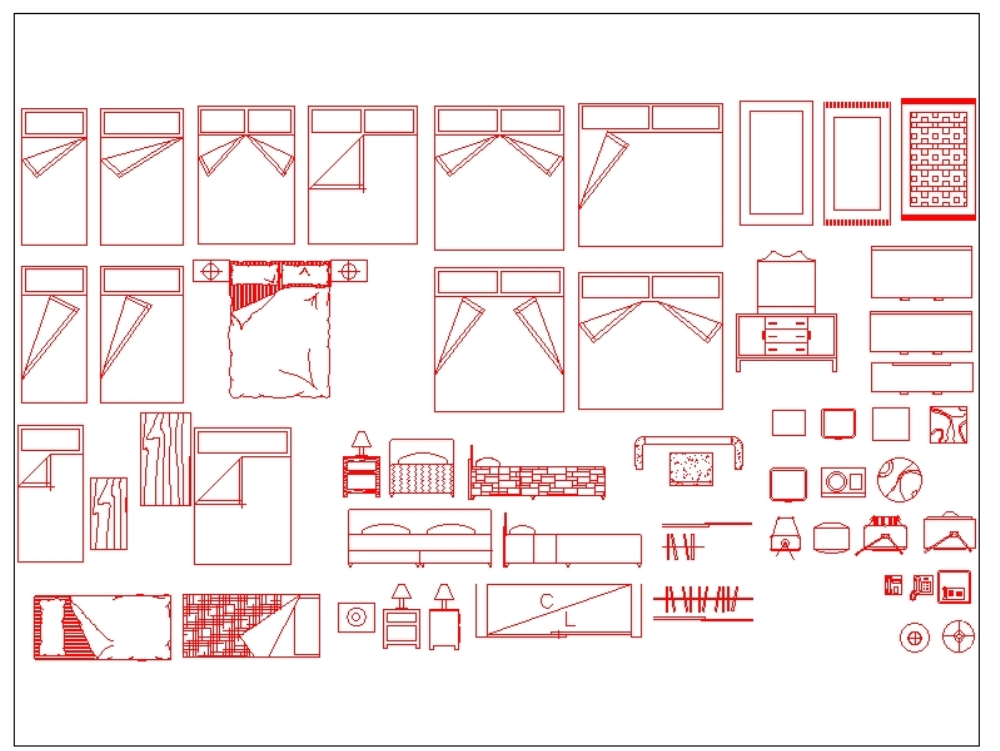 Blocks For A Bedroom Autocad In Autocad Cad 144 02 Kb