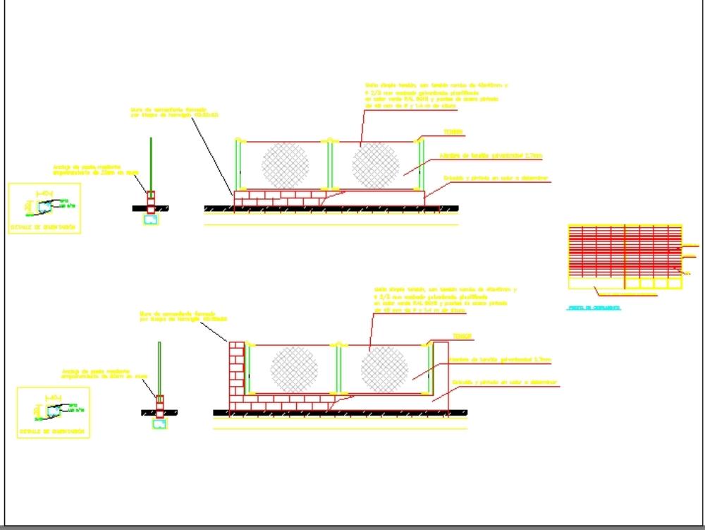 Proyecto cerramiento perimetral finca  - autocad