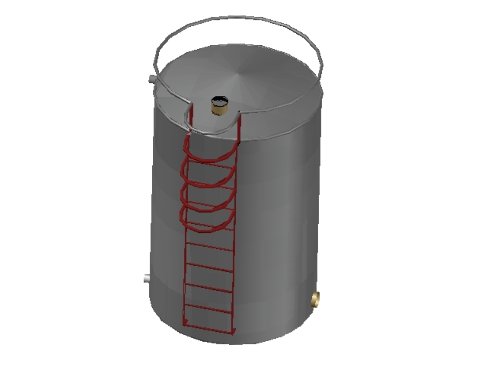 Water tank, industrial design.