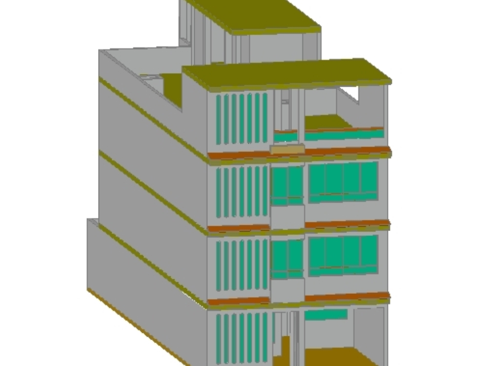 Multifamily housing project 20x7m