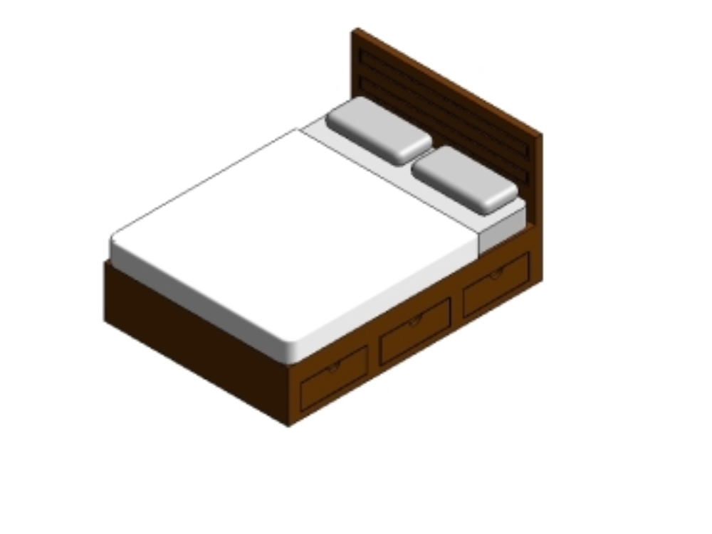 Double or double bed - revit 2017