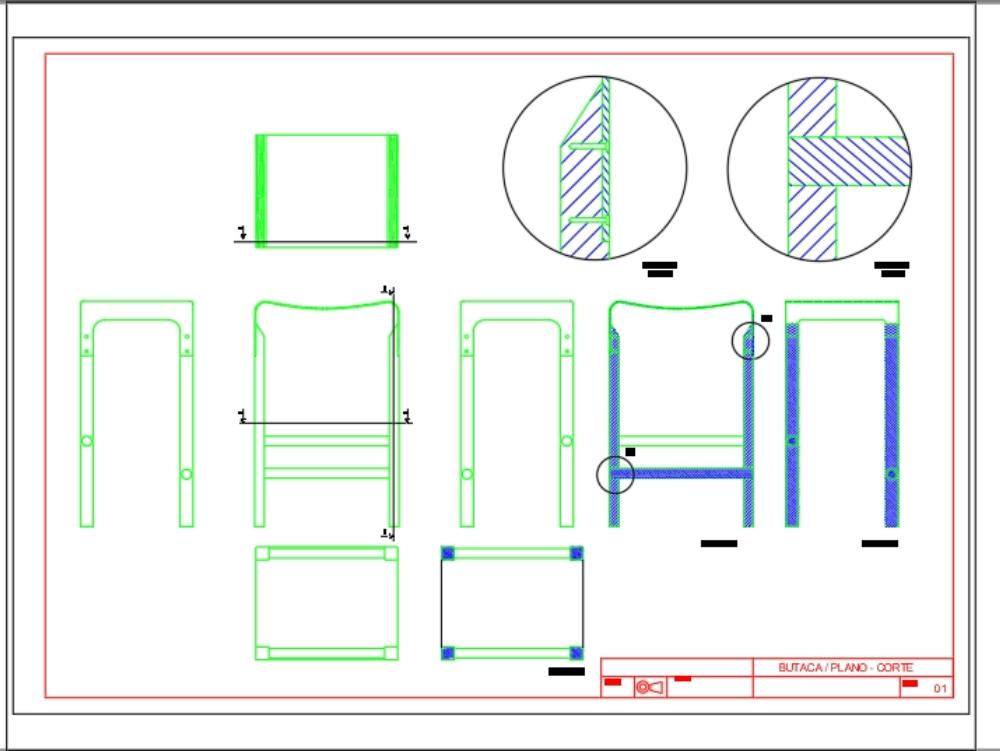Butaca 05 Cad148 Mueble En AutocadDescargar KbBibliocad CrdoeBWx
