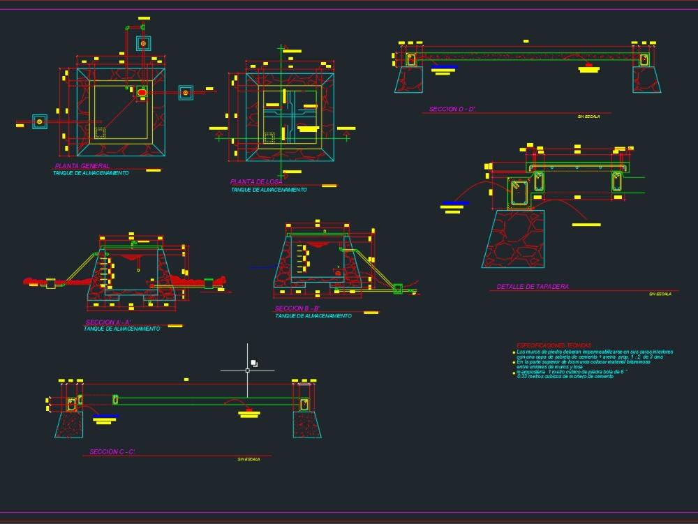 Storage tank - autocad in AutoCAD | CAD download (171 52 KB) | Bibliocad
