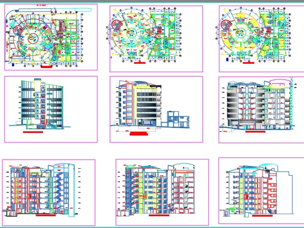 Proyecto arquitectónico de clínica - autocad