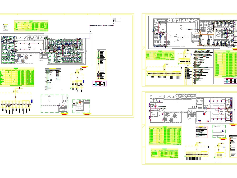 Electrical and hvac project - autocad