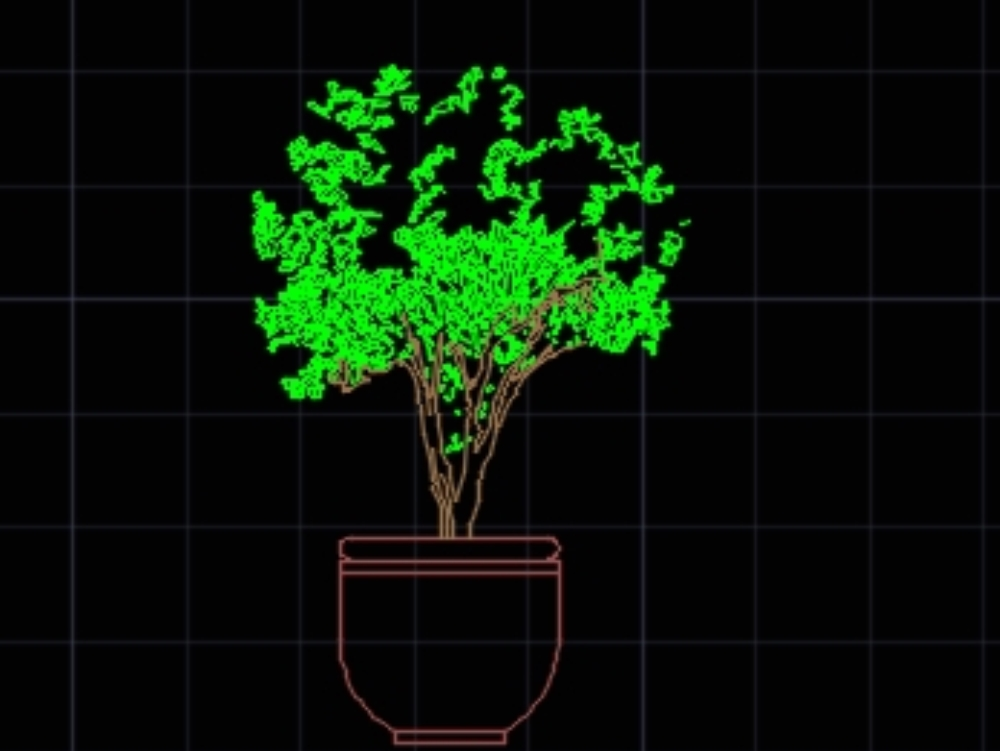 Plantas decorativas para interiores en autocad cad 128 for Plantas decorativas para interiores