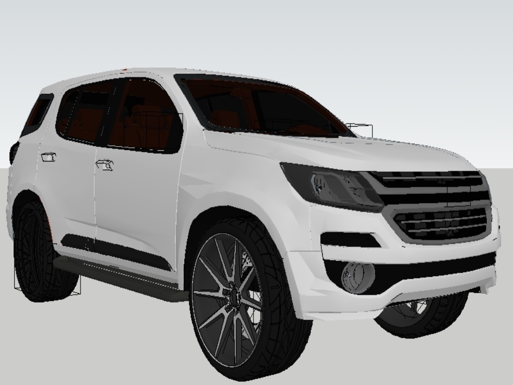 Chevrolet+trailblazer - automovil 3d