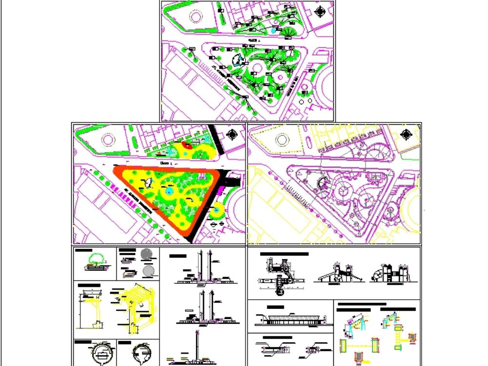 Central urban park design