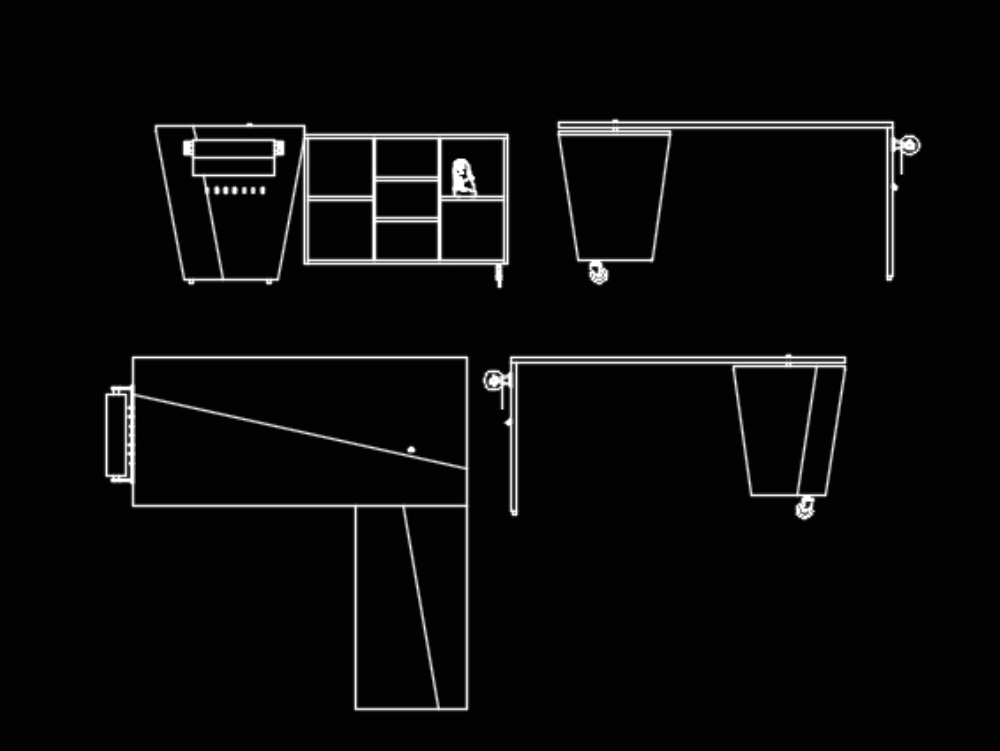 Multifunctional Furniture In Autocad