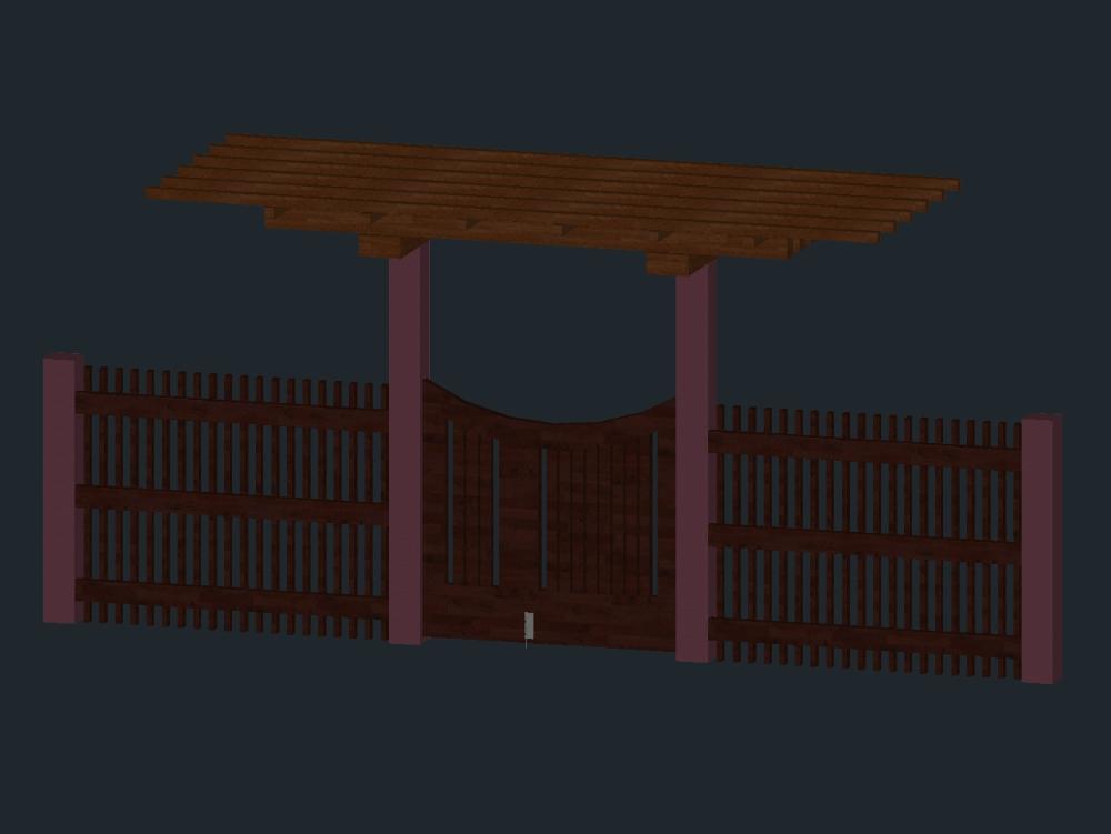 Ingreso de madera 3d