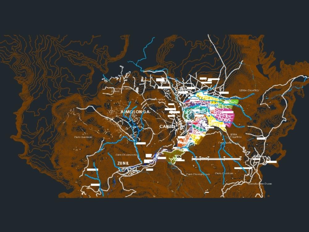 Mapa urbano de cantel; quetzaltenango
