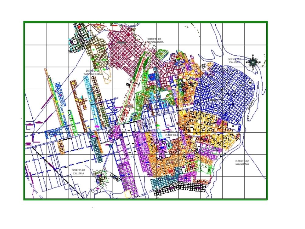 Plano de la ciudad de pucallpa-ucayali.
