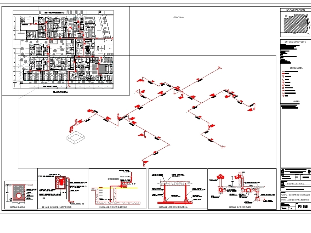 Installation Against Hospital Fire In Autocad Cad 1 46