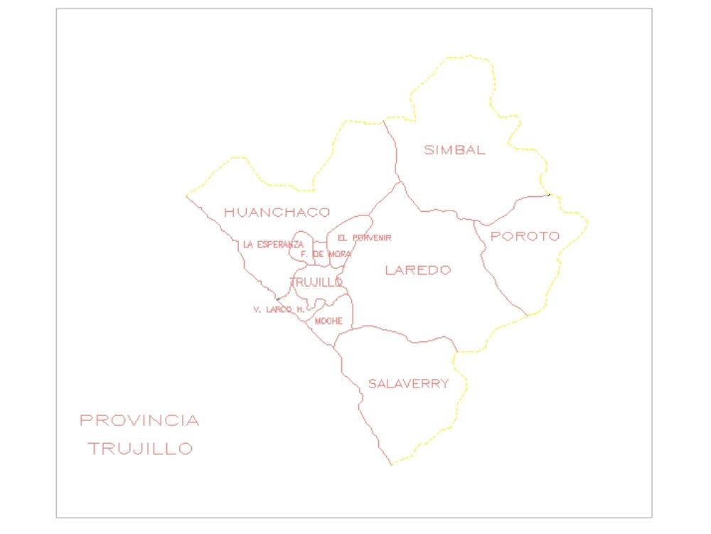 Autocad 2d provincia de trujillo