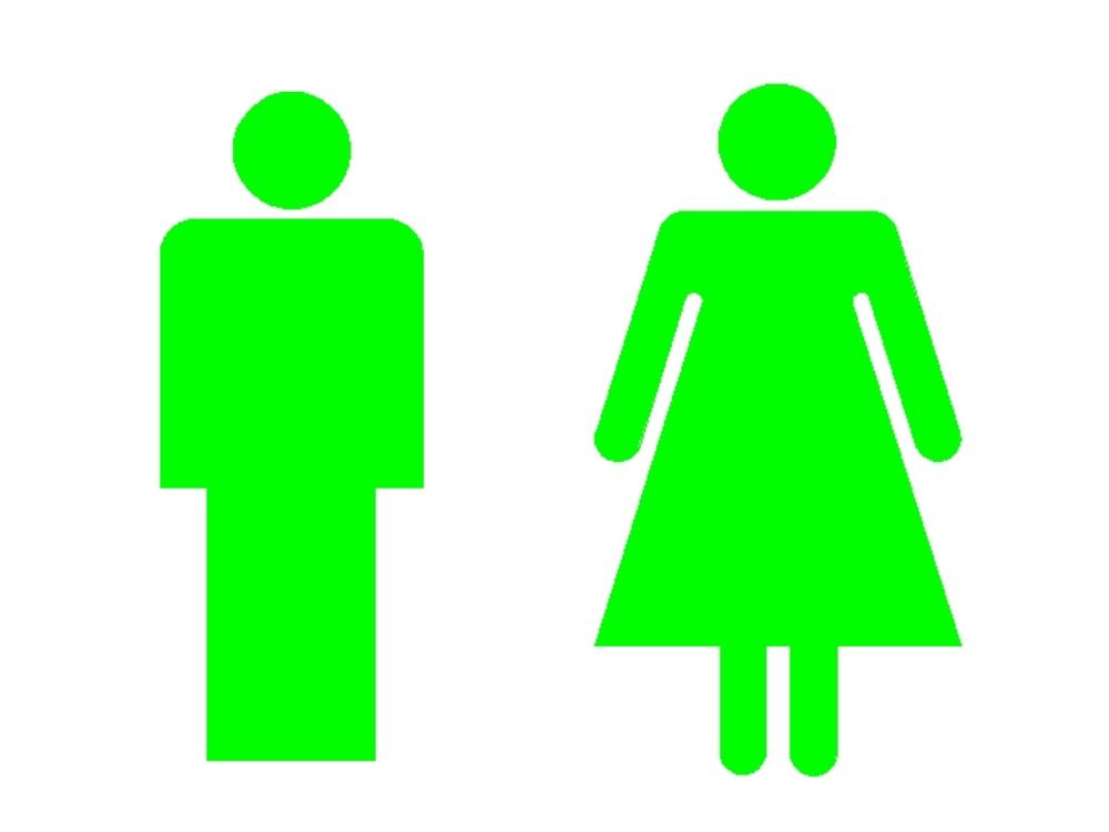 Símbolo hombre mujer