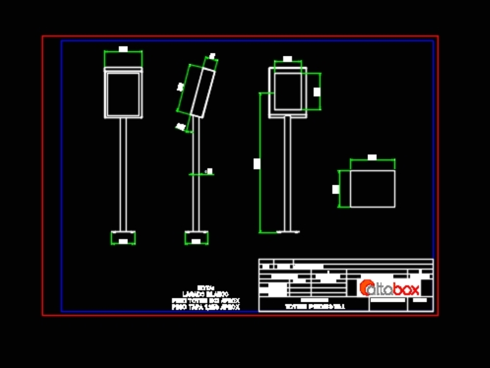 Painting System Totem Structure In Autocad Cad 190 97