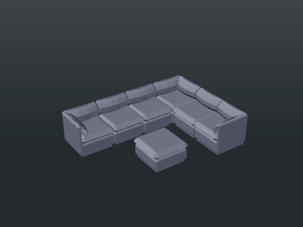 Bloque de sofa-esquina-6-plazas para sala