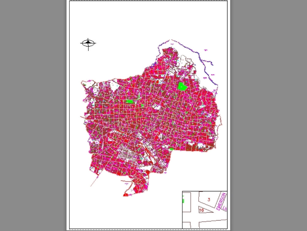 Map Of Guadalajara Jalisco Mexico In Autocad Cad 2 83