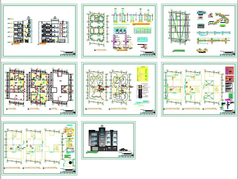 Multifamily housing - 2 apartments per floor