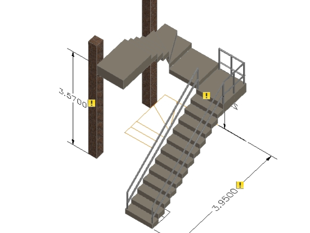 Escalera u