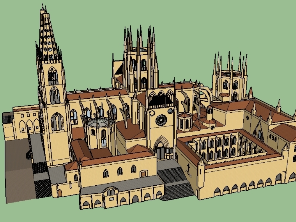 La santa iglesia catedral basílica metropolitana de santa maría; burgos; españa