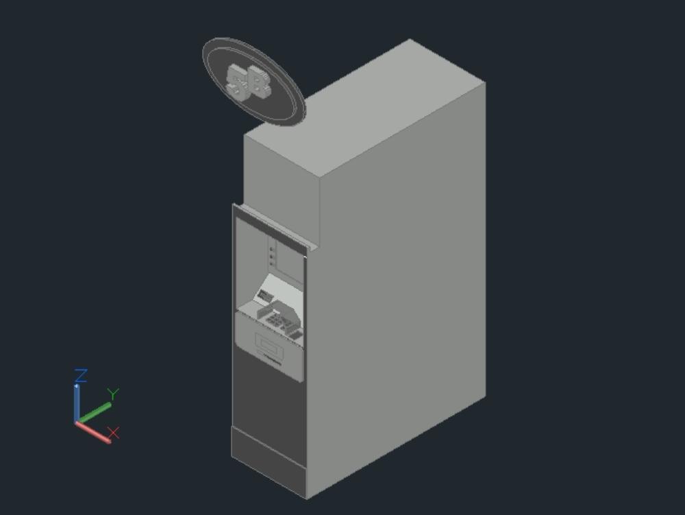 Cajero automatico 3d