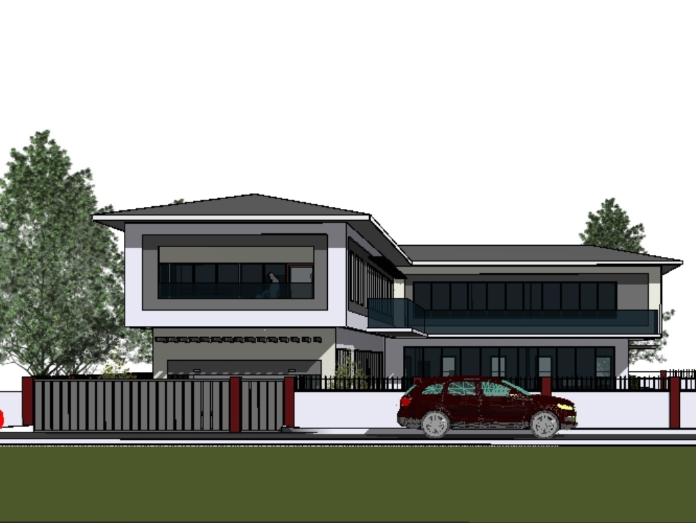 A five bedroom duplex with full baths for all rooms