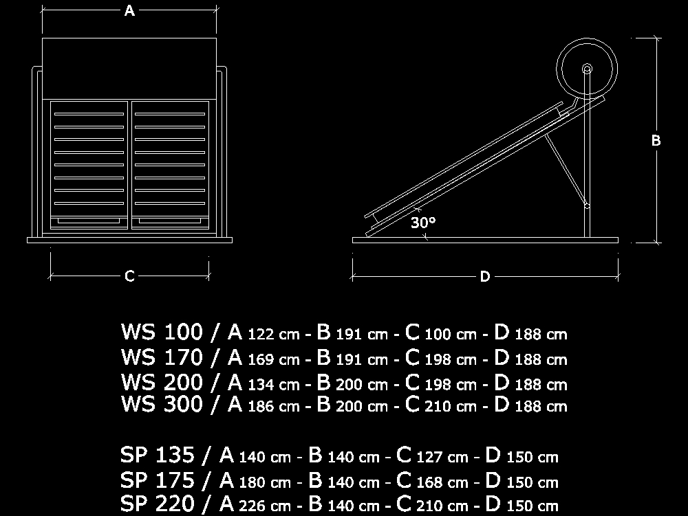 Solar Water Heater Models In Autocad Cad Download 15 47