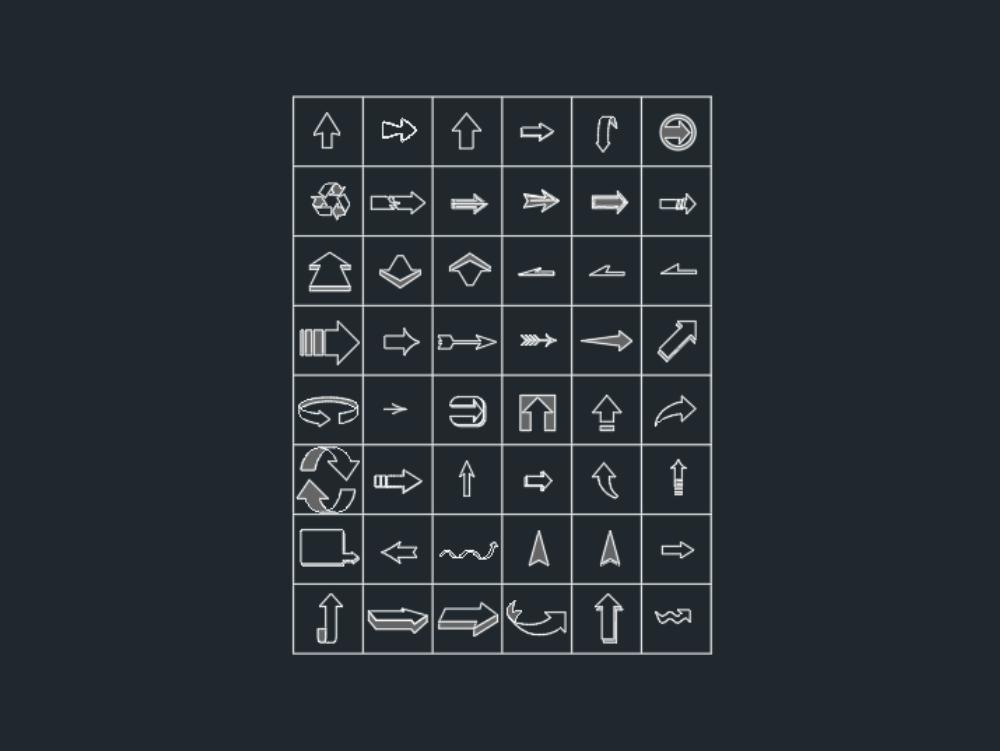 Arrows colored arrows or symbols
