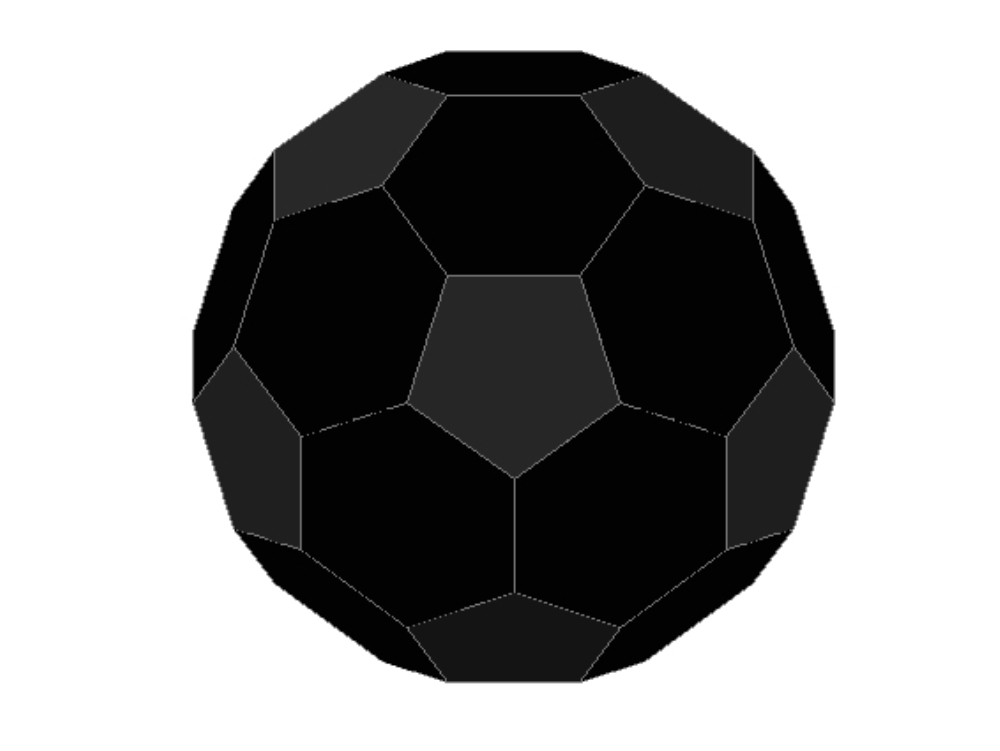 Classic soccer ball black and white