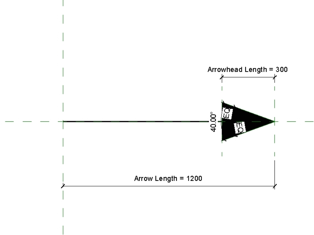 Arrow parametric symbol family in revit