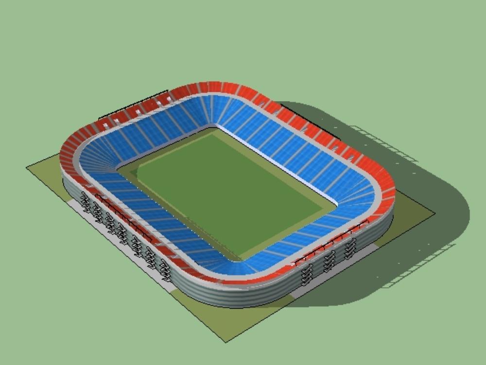 Football stadium with athletic track