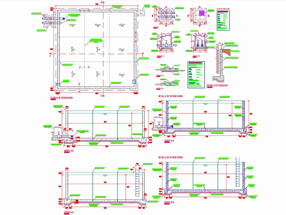 Plano de reservorio 243 m3