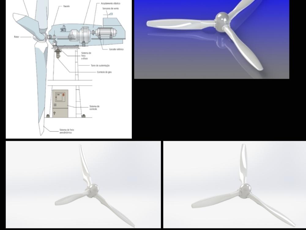 Generador de energía eólica para energía eólica verde.
