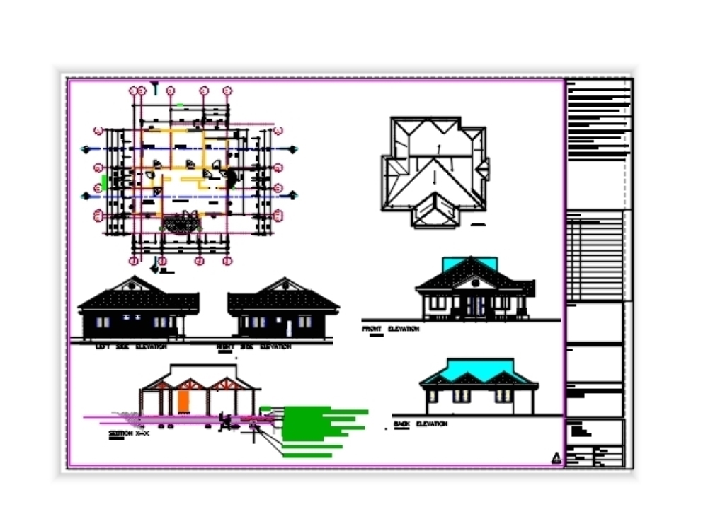 Architectural design family house