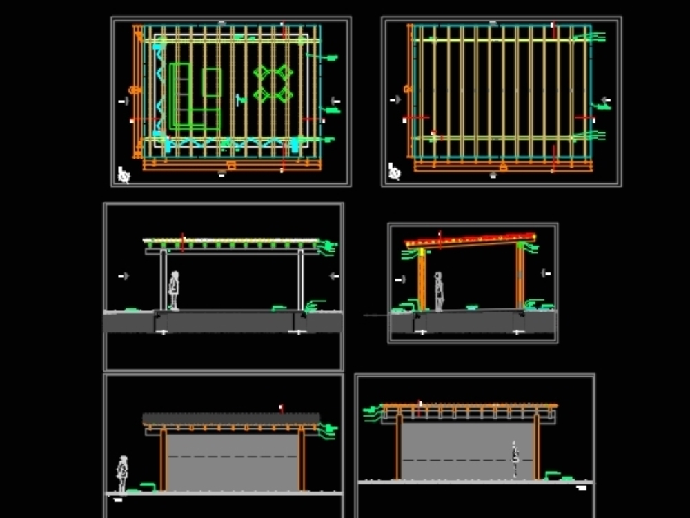 Estructura de madera para casa de campo