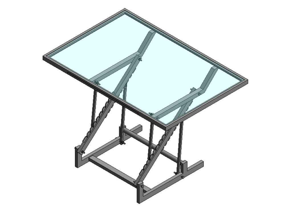 Architectural glass drawing table