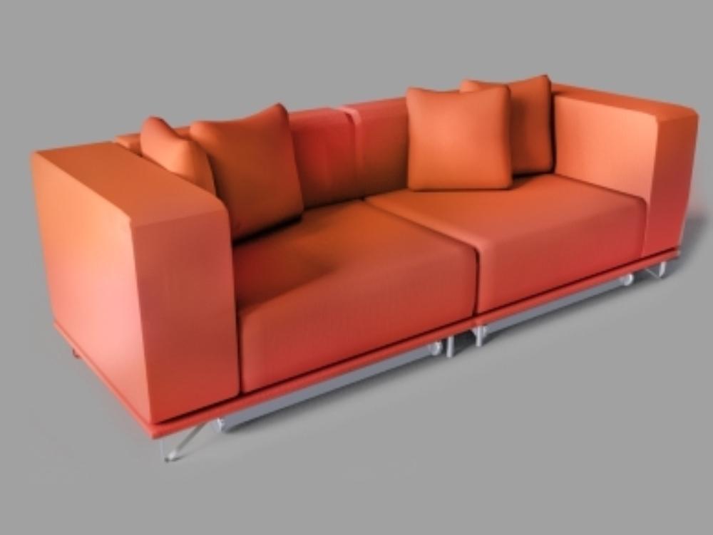 Sofá de color rojo