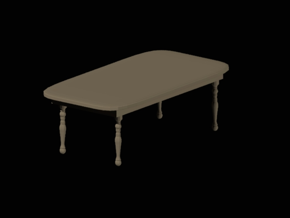 Modeling wooden table in 3d mesh