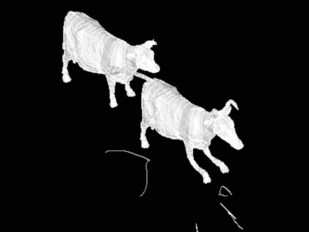 Design of cows in 3d for autocad and revit