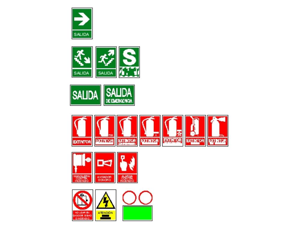 Carteles de señalización de evacuación