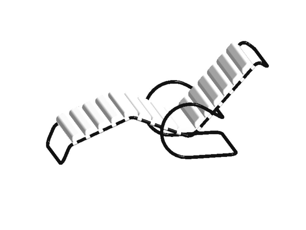 Silla mesedora 3d