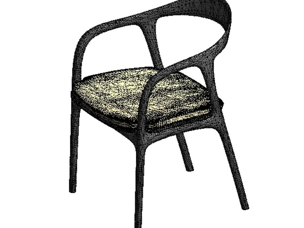 Pine wood laminate chair