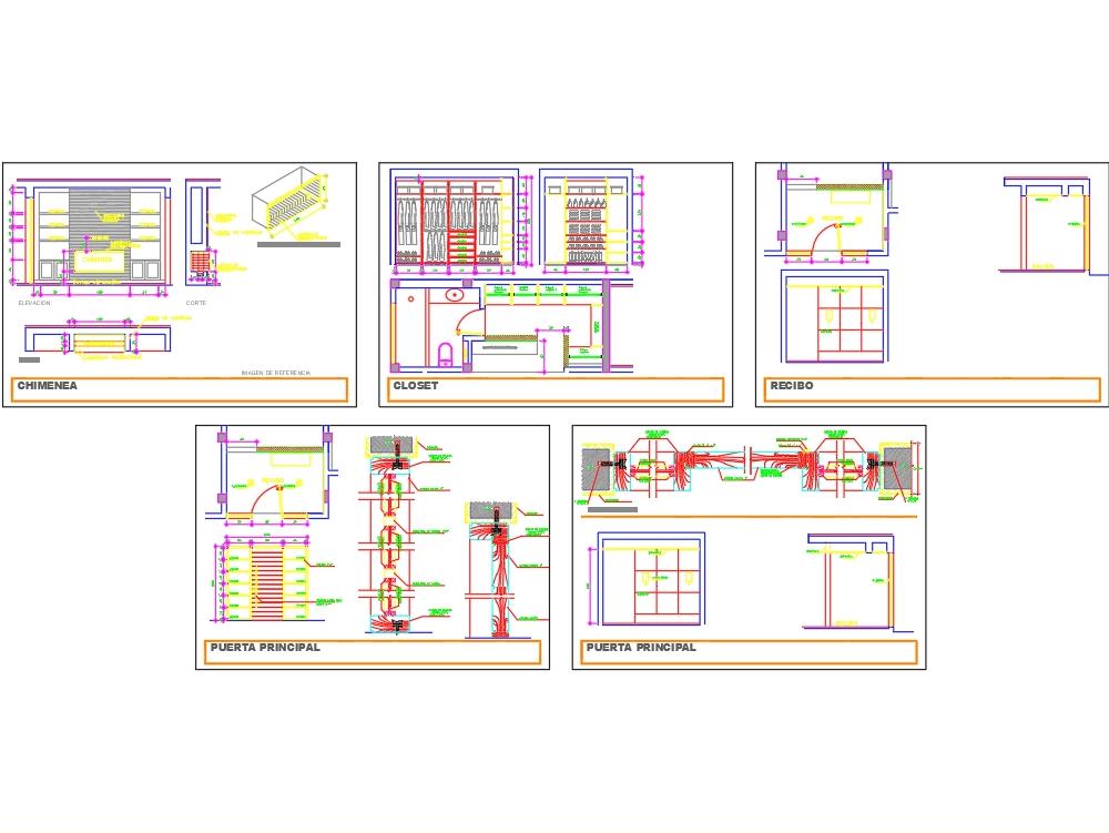 Closet - dressing room in AutoCAD | CAD download (1 39 MB
