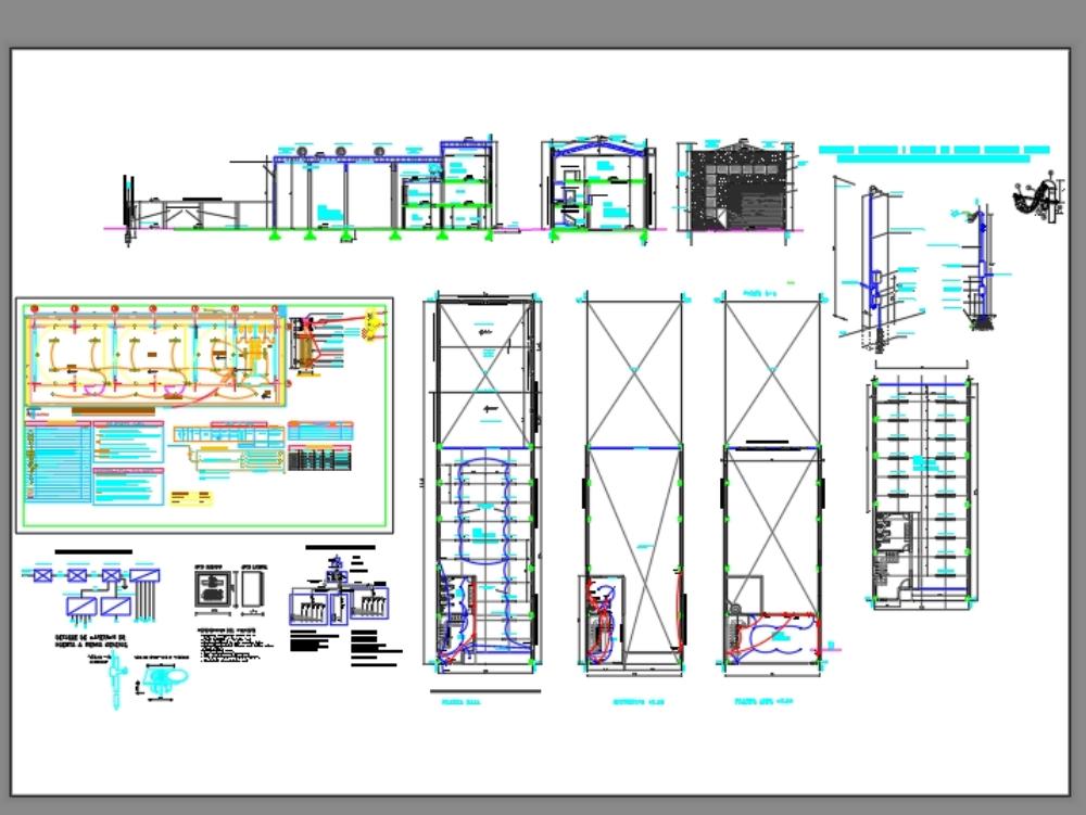 Industrial electrical floor plan