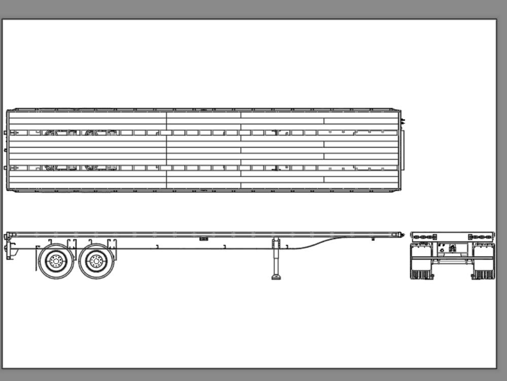Plana 40 pies longitud para carga tipo trailer