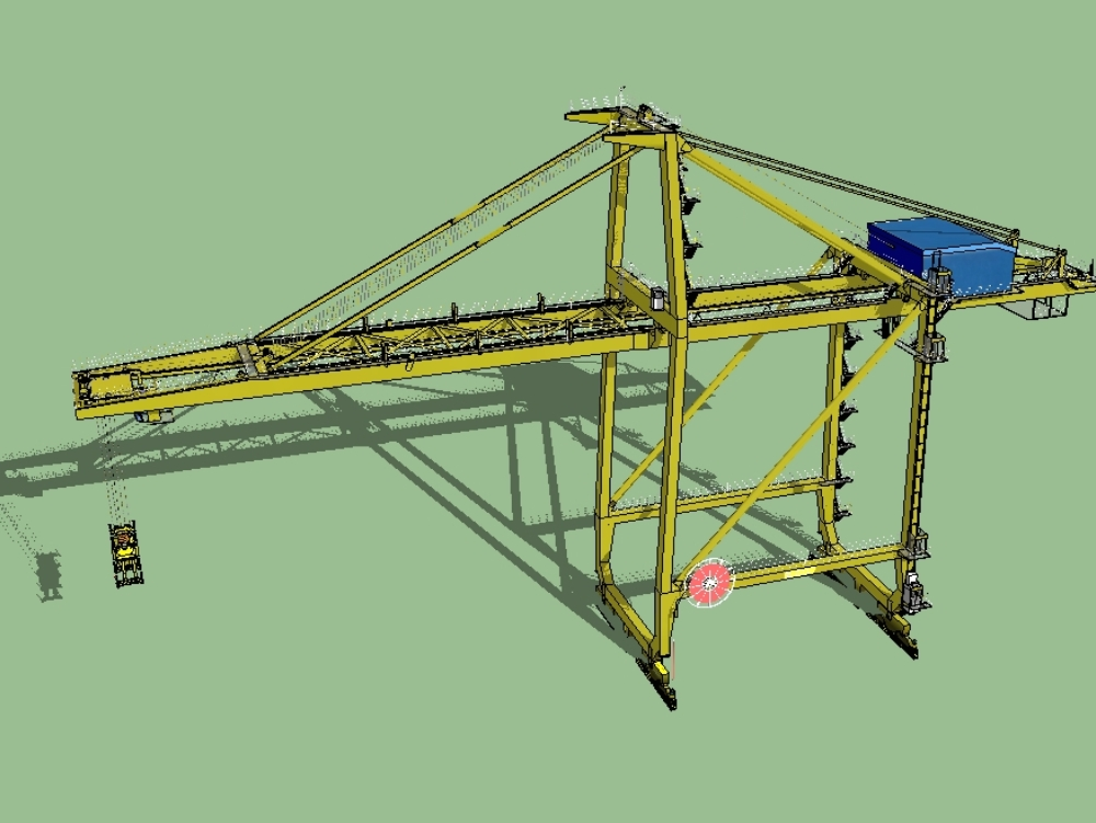 Container crane for containers