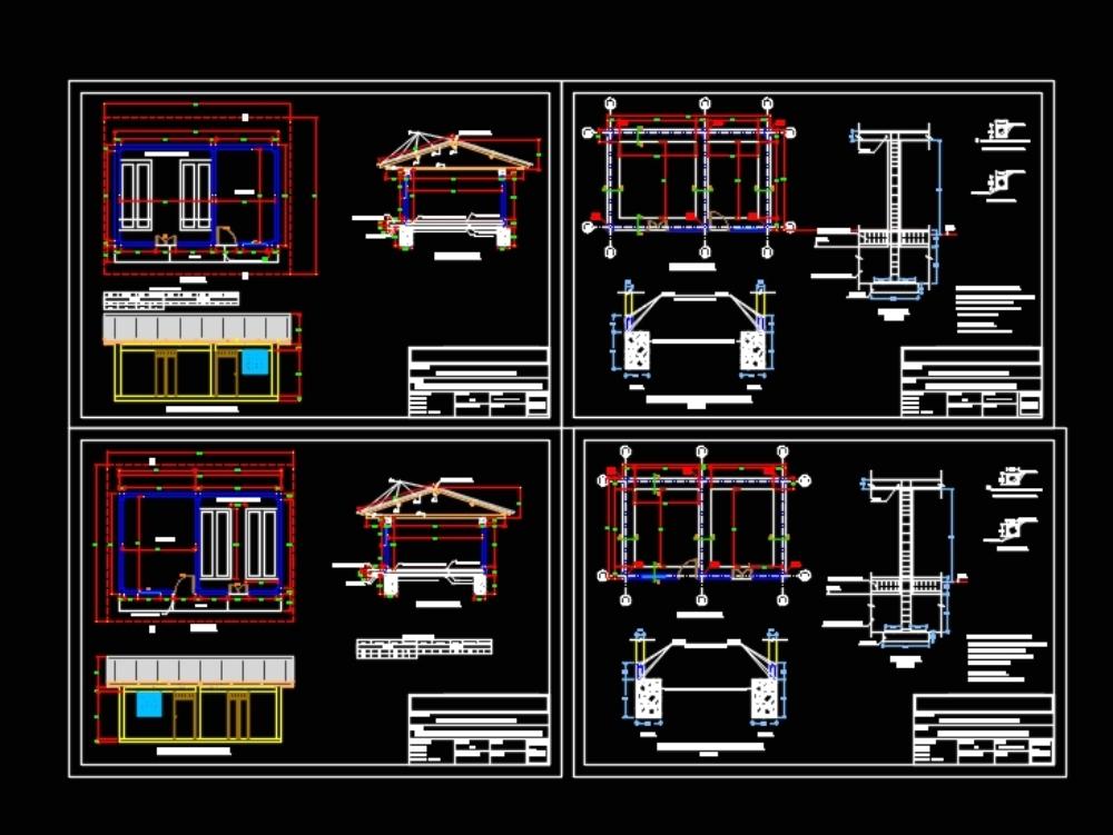 Plano detallado del diseño de una piscigranja