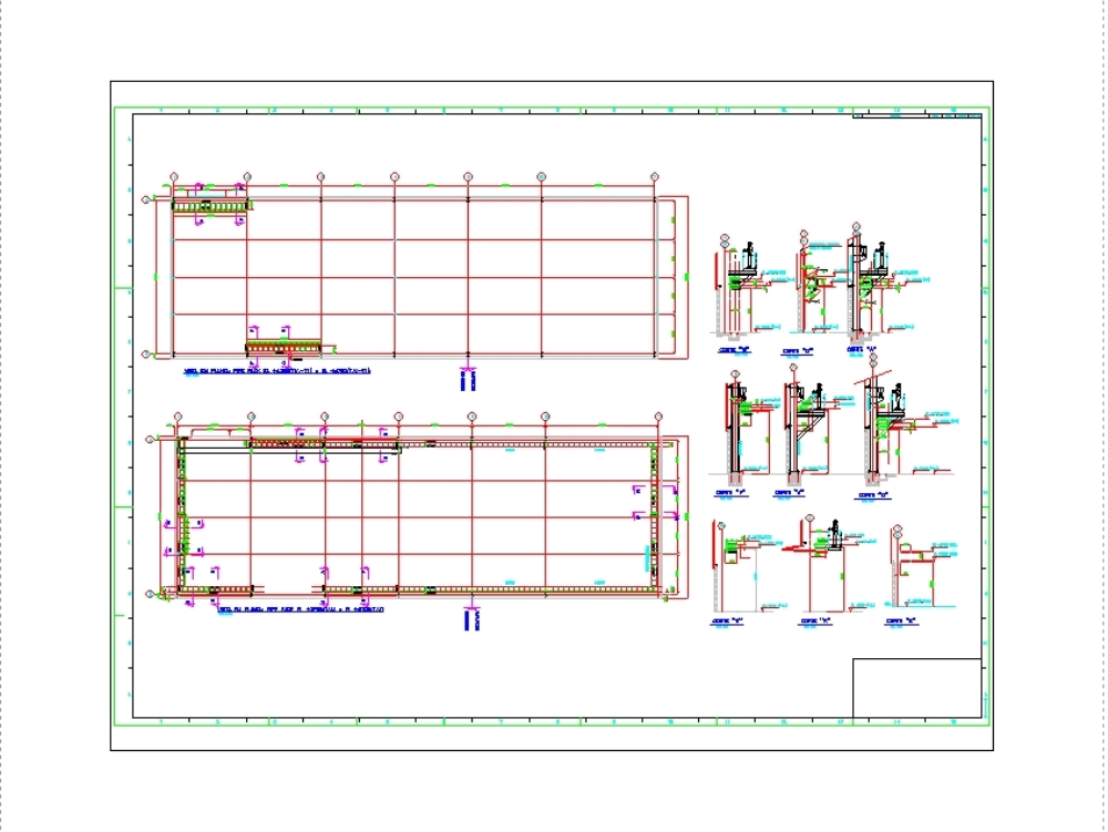 Reservoir of 25m3 architecture and hydraulic