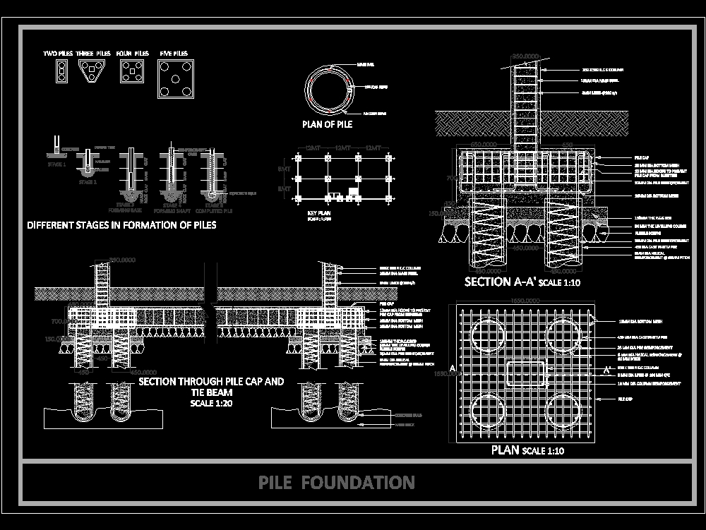 Construction details: pile foundation (1 13 MB) | Bibliocad